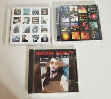 Lot of 3 Bon jovi Music CDs with two 2001 ticket stubs from Cleveland Ohio