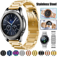 For Samsung Galaxy Watch 3 41/45mm Active 2 Stainless Steel Band Strap+Link Tool