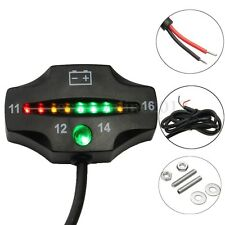 Car Auto Motorcycle Universal Waterproof LED Battery Voltage Meter Indicator 12V