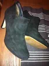 Paul Green Stiefeletten Boots Wildleder schwarz Gr. 6 / 40