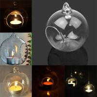 Glass Ball Candle Holder Terrarium Bauble Transparent Vase Wedding Patrty Decor