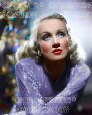 MARLENE DIETRICH Holiday Portrait   Beautiful 8x10 COLOR PHOTO by CHIP SPRINGER