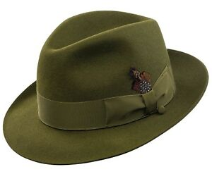 SELENTINO STERLING 100% GENUINE FUR FELT FEDORA HAT 22 COLOR'S!! 6 1/2 - 7 3/4