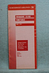 Northwest Airlines Timetable - May 1, 1991