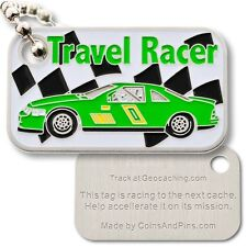 Racer Micro Travel Tag (Geocoin) For Geocaching