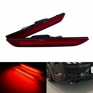 Fit For Ford Mustang 2015-2019LED Side Bumper Light Tail Indicator Signal Lamp