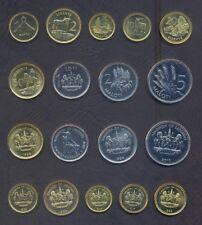 LESOTHO FULL COIN SET 1+2+5+10+25+50 Lisente 1+2+5 Maloti 1992-2010 UNC LOT of 9
