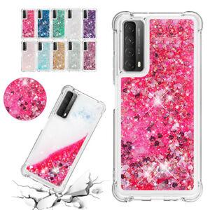 For Huawei P40 Mate 30 Lite Pro Plus Monochrome Sequin Protective Cover Case