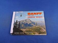 BANFF AND THE CANADIAN ROCKIES NATURAL COLOR PHOTOGRAPHS PICTURE BOOKLET