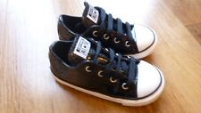 Converse All Star Trainers Black Glitter Toddler Girls UK Size 8
