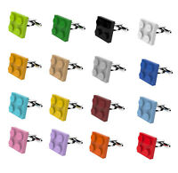 LEGO ® FLAT PLATE Brick Cufflinks SILVER PLATED - Wedding Groom Mens Gift