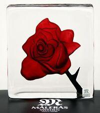 """Mats Jonasson Art Glas """"Blackbird"""" Rose, rot 105 mm hoch"""