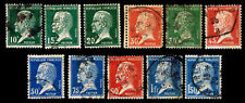 1923-26 FRANCE #185-194 & 196 LOUIS PASTEUR - USED - VF - CV$11.60 (ESP#2775)