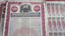 German Goldbond Government Loan 1000 US Dollar Emprunt Anleihe Goldloan