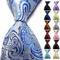 Classic Men's 100% Silk Tie Necktie Striped White Black JACQUARD Neck Ties Hot!!