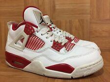 RARE🔥 Nike Air Jordan 4 IV Retro Alternate '89 S 8.5 White Black Red 308497-106