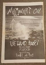 Midnight Oil 1988 press advert Full page 30 x 42 cm mini poster
