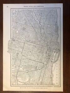 1917 Chicago, Illinois Map, Encyclopedic Atlas and Gazetteer