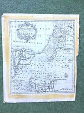 18th C map Journey in Wilderness Conquest Partition Land of Canaan by Israel chi