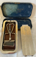Vintage 1927 Silver Plated The Whetter Rolls Razor - complete - Made in England