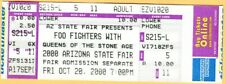 2000 Foo Fighters concert ticket Arizona State Fair Dave Grohl Phoenix 10/20/00