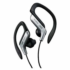 JVC HA-EB75 SILVER SPORTS ADJUSTABLE EAR CLIP EARPHONES HEADPHONES GYM RUNNING