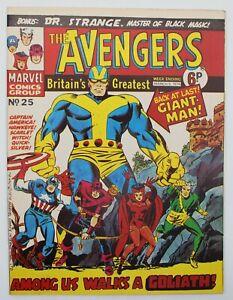 Avengers (1973) #25 UK Reprint Avengers #28 1st Collector Kirby Cvr Don Heck VG+