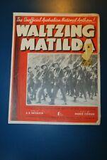 Vintage Waltzing Matilda sheet music songbooks