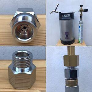 Sodastream co2 Adapter Regulator Homebrew Beer Corny Keg 6ACME-6G - W21.8 DIN477