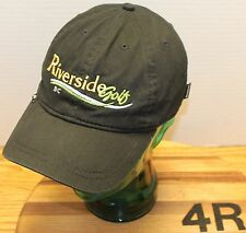 WOMENS RIVERSIDE GOLF BRITISH COLUMBIA CANADA HAT BLACK IN VERY GOOD CONDITION