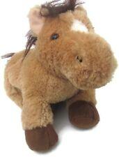 "Mary Meyer Brown & Black Pony Horse 11"" Chubby Plush Stuffed Animal Lovey"