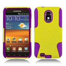 US Cellular Samsung Galaxy S II 2 MESH HYBRID Hard Rubber Skin Case Cover Yellow
