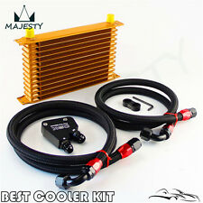 Trust Engine Oil Cooler Kit 13 Row  For GM LS1 LS2 LS3 LSX VE HSV VZ Gold