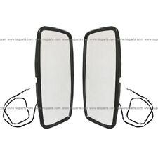 Door Mirror Main Convex Heated Black LH RH Fit Mitsubishi Fuso/ Isuzu NRR/Nissan
