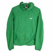 The North Face Full Zip Fleece Jacket Women's Medium Green Hooded TKA 100
