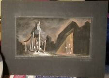 Modernist Watercolor-1940's-The Trojan Women-By John H. Mansteller