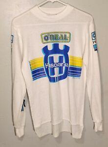 Vintage o'neal husqvarna longsleeve 1986 motorcross medium 50/50 made in usa