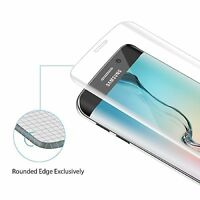 Premium Real Curved Tempered Glass Screen Shield For Samsung Galaxy S6 Edge