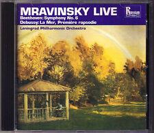 Mravinsky: Beethoven Symphony No. 6 DEBUSSY la mer première Rapsodie Clarinet CD