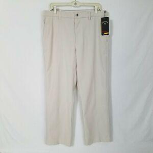 NEW Callaway Mens Beige PRO-SPIN 3.0 Golf Pants UPF 50 Size 34x20 SD210