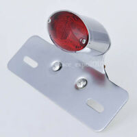 14 LED Motorcycle Turn Signal Brake License Plate Integrated Tail Light Chrome