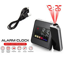 Digital Projection Alarm Clock Tempreture LED Date Time LCD Display Calender