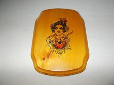 Custom hand painted small wooden wall hanging decorative plaque Womans face used