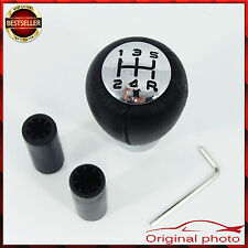 Black Leather Gear Stick Knob 5-Speed NISSAN Primera Almera Micra Patrol NEW