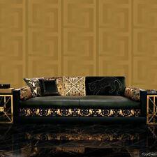 VERSACE GREEK KEY WALLPAPER ROLLS 10m x 70cm - GOLD 935232 NEW