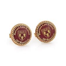14k Gold Red Enamel Harvard Law School 50th Reunion Cufflinks LIQUIDATION!