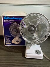 Vintage Windmere Speed Oscillating 12 X 8 Inch Fan Test And Working.