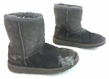 UGG Womens Original Kids Classic Short Sheepskin Boot - Grey US Size 3 w/ defect