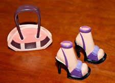 MY SCENE BARBIE DOLL PURPLE SHOES & BROWN/PINK PURSE