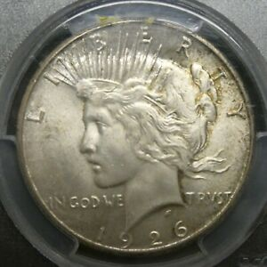 1926 S $1 Peace Dollar Certified PCGS MS64 Us Mint Silver Coin
